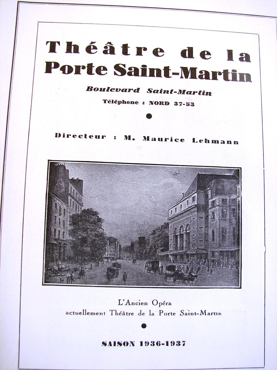 Cyrano de bergerac th tre de la porte saint martin paris - Theatre de la porte saint martin plan ...